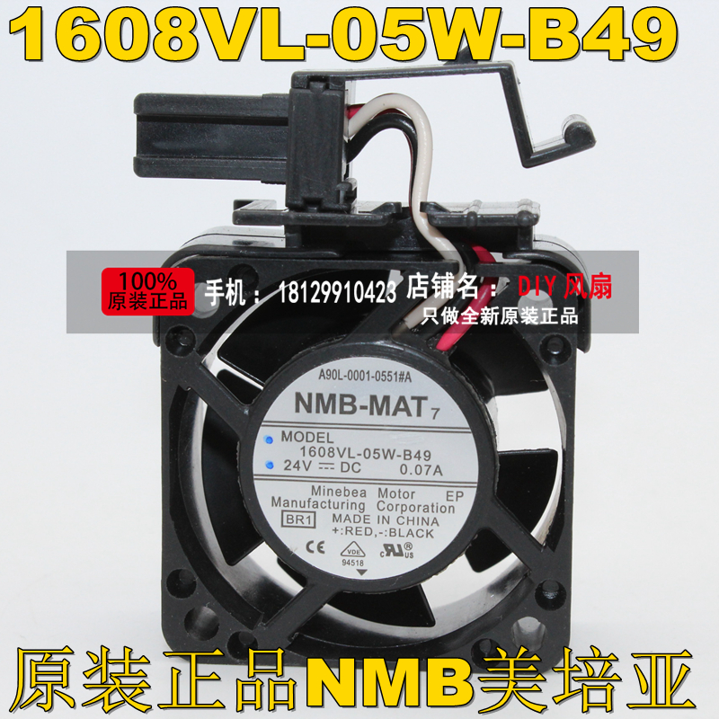 NEW NMB-MAT Minebea 1608VL-05W-B49 A90L-0001-0551#A 24V 0.07A FOR fanuc cooling fan sanyo 9wf0624h603 6020 24v 0 15a a90l 0001 0576 for waterproof cooling fan
