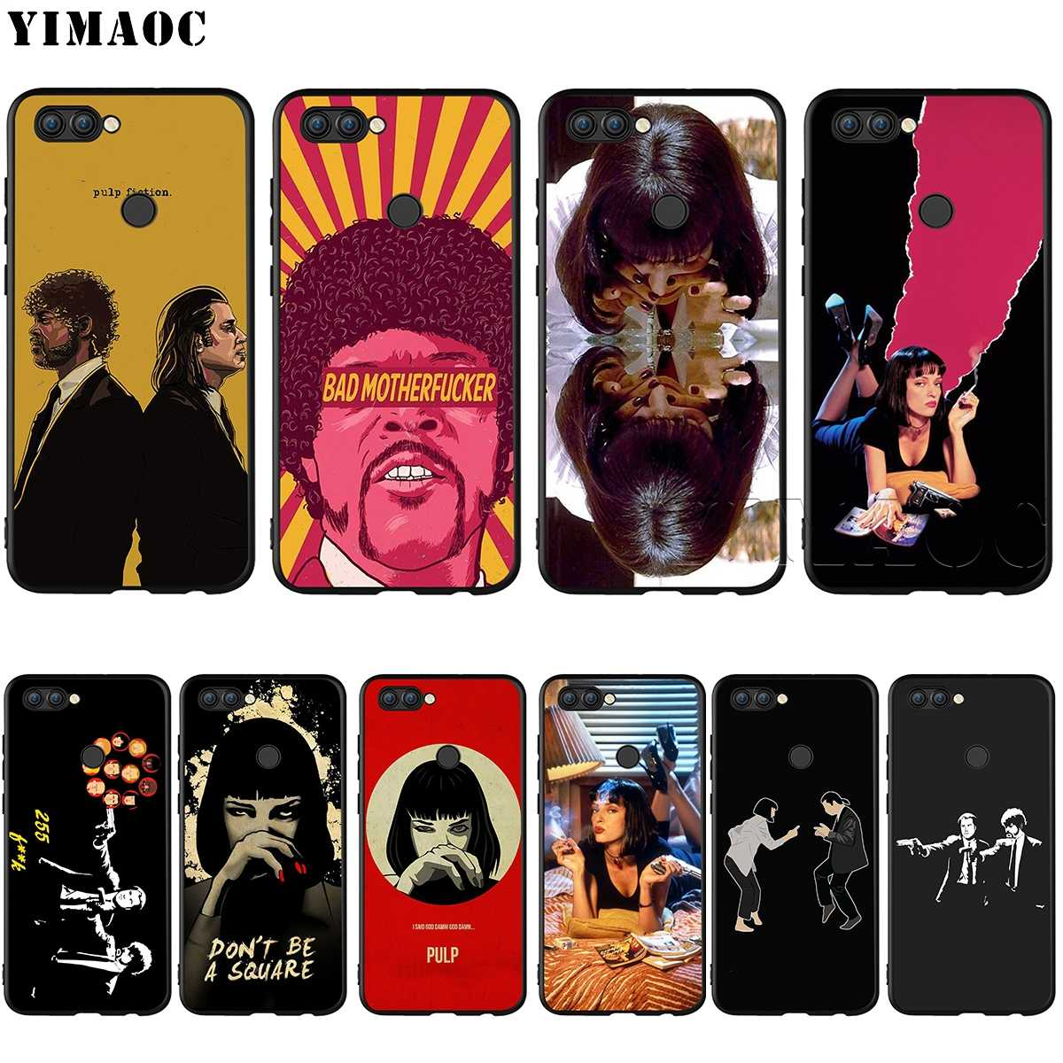 Pulp Fiction YIMAOC Silicone Case for Huawei Companheiro 10 P8 P9 P10 P20 Lite Pro P Y7 Y9 Inteligente Mini 2017 2018