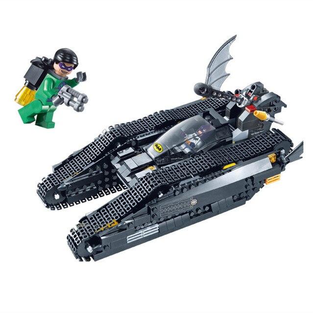 Decool Бэтмен колесница супергероев bat Tank Супермен Super Heroes Building Block Marvel игрушки модель совместимый legoe