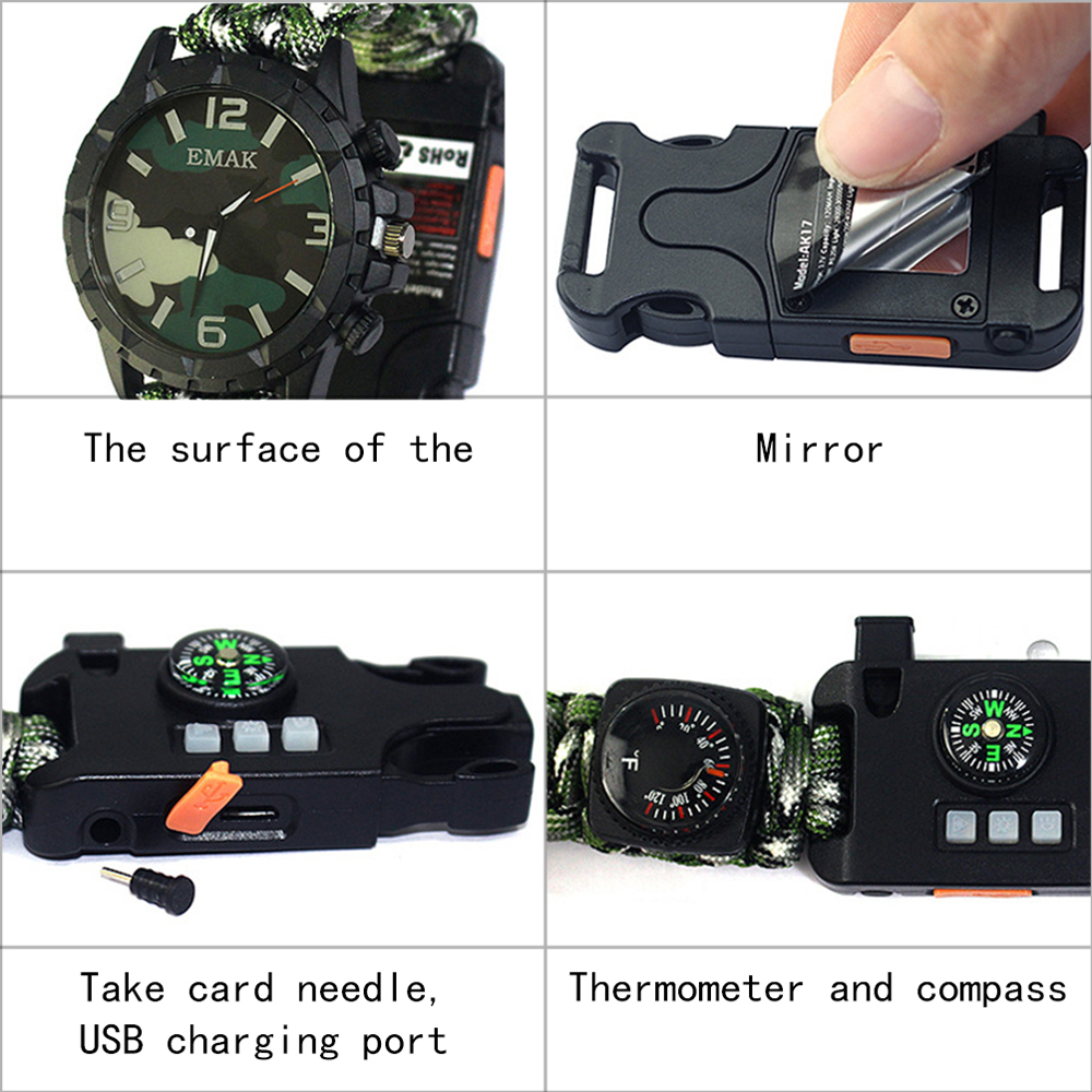 Men's Sports Watch Traveling  Survival  Whistle  Mountaineering Watch 5