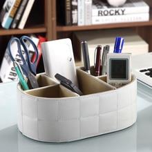 PU Leder Fernbedienung Handyhalter Aufbewahrungsbox Cosmetic Organizer Lagerung Kosmetik Regal Organizer22.5x15x8.5cm