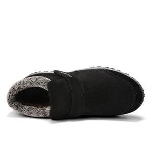 Image 4 - Stivali inverno caldo scarpe da Uomo di stile Russo di trasporto stivali da neve Della Caviglia per gli uomini in pelle scamosciata delle donne stivali di pelle con pelliccia di inverno scarpe stivali da uomo
