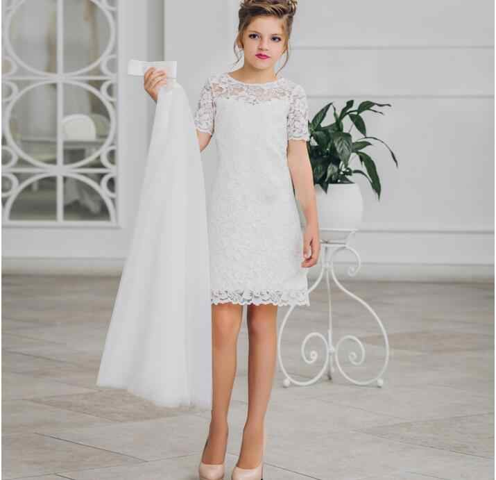 a7cbe1164 Vestidos de niña de las flores para bodas y abrigo de dos piezas de tamaño 2
