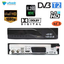 DVB-T2 наземного цифровой приёмник, поддерживает Dolby AC3 H.265/HEVC DVB-T h265 hevc dvb t2 распродажа, товар из Европы Чехия