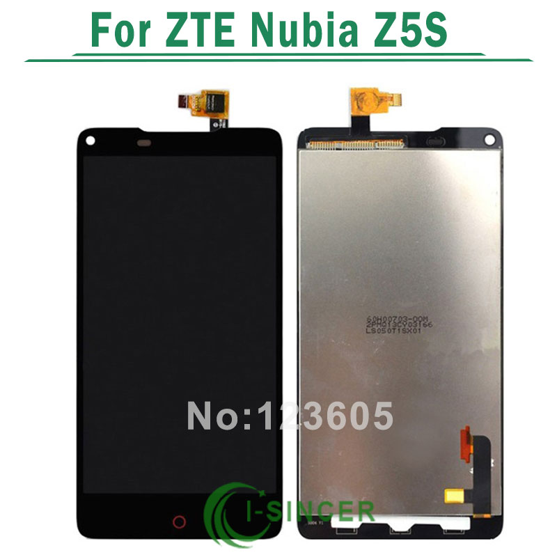 1/PCS for ZTE Nubia Z5S LCD Screen + touch screen Assembly Replacement -Black