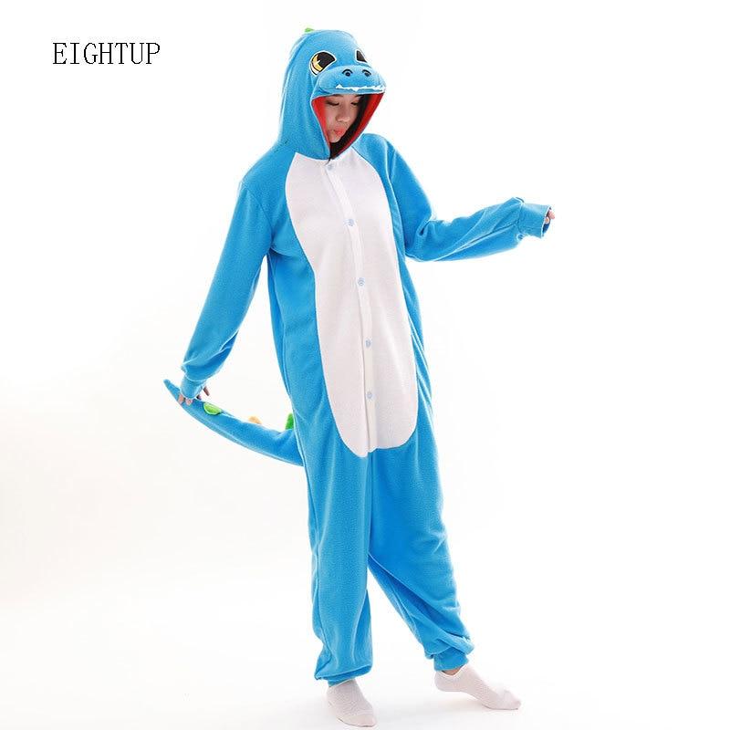 90e1e14660 Blue Dinosaur Onesies Cartoon Adult Unisex Animal Green Dragon Pajamas  Pyjamas Jumpsuit Nightwear Carnival Costumes-in Anime Costumes from Novelty    Special ...