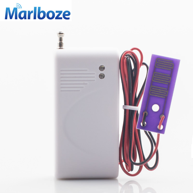 Marlboze 433mhz Wireless Water Leak Detector Intrusion Detector for Home Security GSM Alarm System Flood Water leakage Sensor wireless vibration break breakage glass sensor detector 433mhz for alarm system