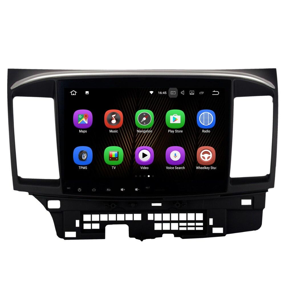 10.2 Inch Android 7.1 <font><b>Car</b></font> Media Radio Player For Mitsubishi Lancer 10 Galant Wifi 2G+16G Support DAB GPS BT Radio FM HDMI NO DVD