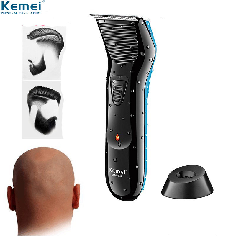 Kemei Professional Rechargeable 0mm Baldheaded Hair Beard Trimmers Haircut Styling Machine Barber Electric Unique Hair Clipper 1