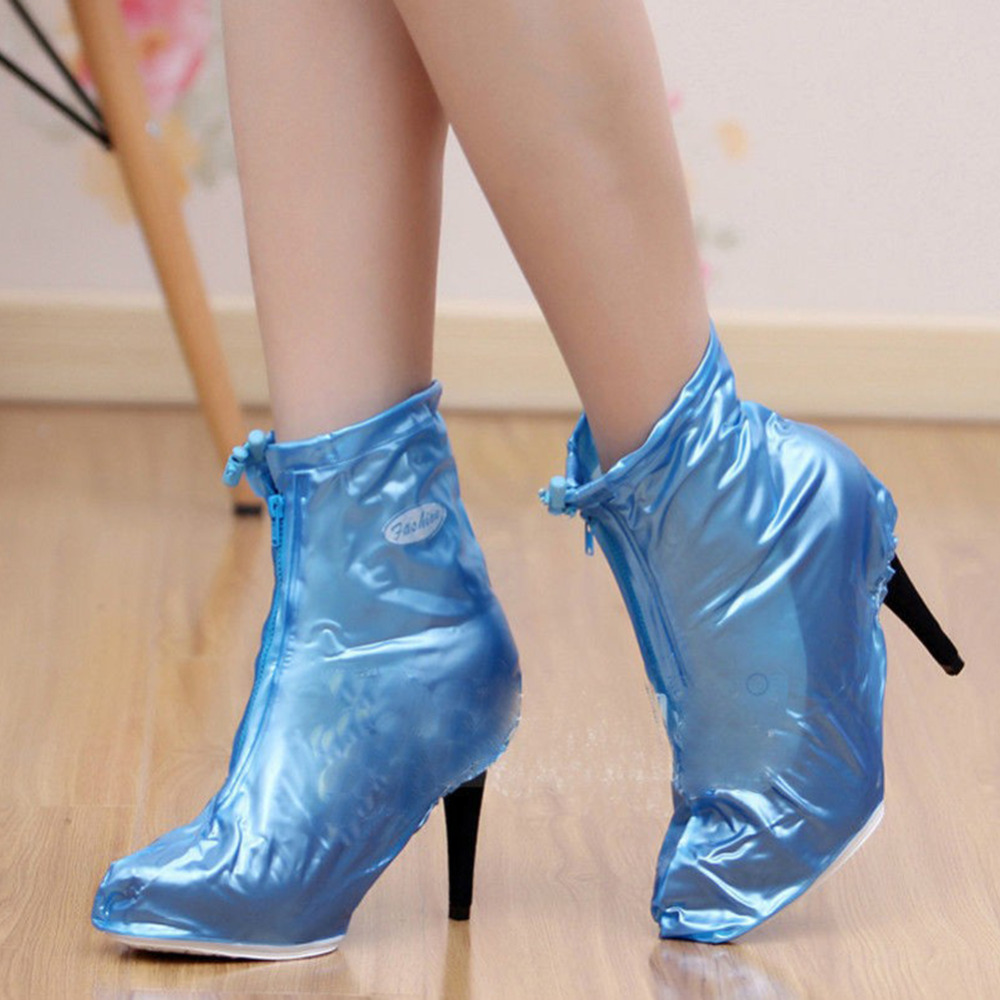 Waterproof Rain High Heels Shoes Cover Women Rain Boots Waterproof Slip resistant Overshoes Shoes Covers