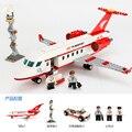 GUDI 334 unids Hueco del Aeroplano Modelo de Avión de Juguete Autobús con Aire Modelo DIY Ladrillos bloques Niños Clásicos Juguetes Compatible Con Legoe