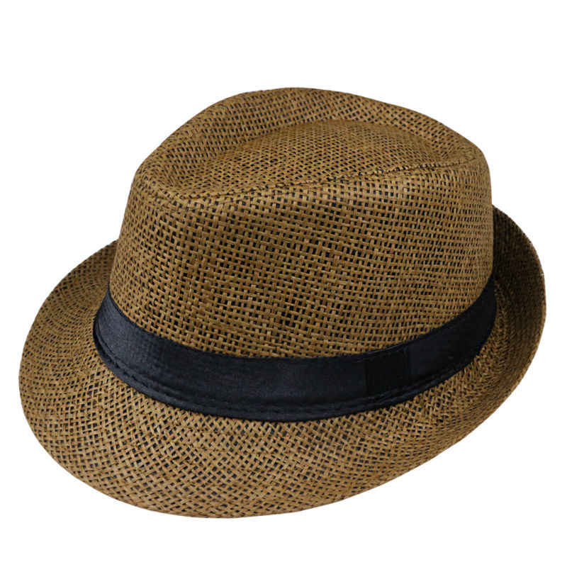 a2d8b2236fd ... 2018 Hot sale Summer Style Child sunhat Beach Trilby Sun hat Straw  panama Hat For boy ...
