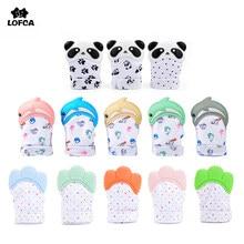Lofca mordedor colorido para bebês, 1 peça, sem bpa, panda, brinquedos de dentição, boneca, chupeta, envoltório, som, presentes mastigáveis
