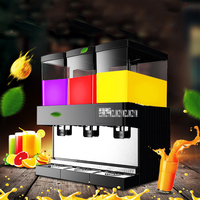 220V 3 Tank Commercial Cylinder Drink Machine Hot Cold Drink Milk Coffee Juice Spray Type Beverage Dispenser Machine VC S