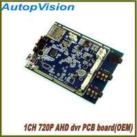 OEM  720P Real time 1CH AHD Mini DVR PCB Board  30fps support 128GB sd Card Security Digital Recorder 30PCS DHL  free shipping