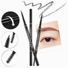 1PC Double Ended Super Slim Eyebrow Pencil & Eyebrow Brush Waterproof Long Lasting Gray Brown Eyebrow Tatoo Pen Cosmetics цена в Москве и Питере