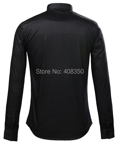 Men\'s Fashion Quality Metal Chain Cotton BlackWhite Long Sleeve Party Dress Shirt Casual Masculina Camiseta Cool Business Shirt (2).jpg