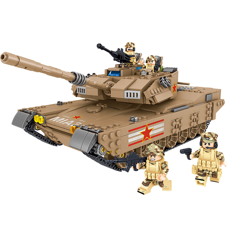 1051pcs Children's educational building blocks toy Compatible Legoingly city boy M1A2 main battle tank DIY figures Bricks gifts-in Blocks from Toys & Hobbies    1