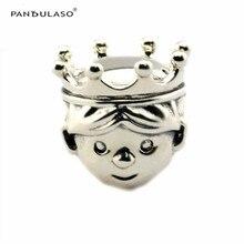 2016 Otoño Precioso Príncipe recién nacido Príncipe Granos Adapta Pulseras Pandora Joyería de los Granos de Plata Esterlina DIY Whloesale Mujer regalo