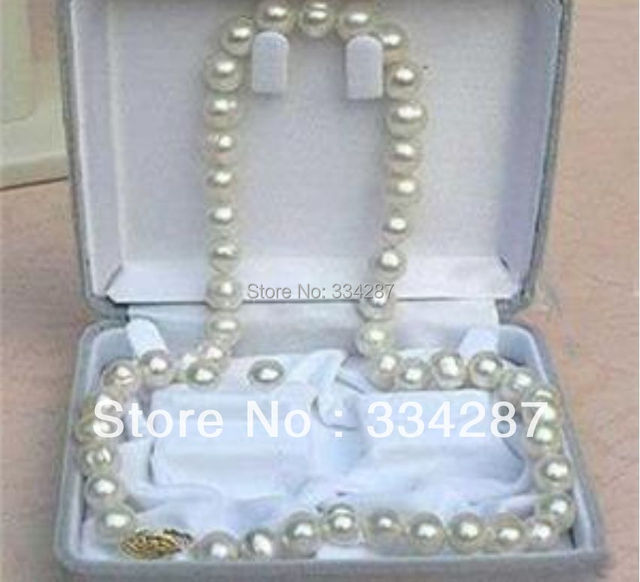 7 8mm White Akoya Cultured Pearl Necklace Earring Set 18 Aa No Box
