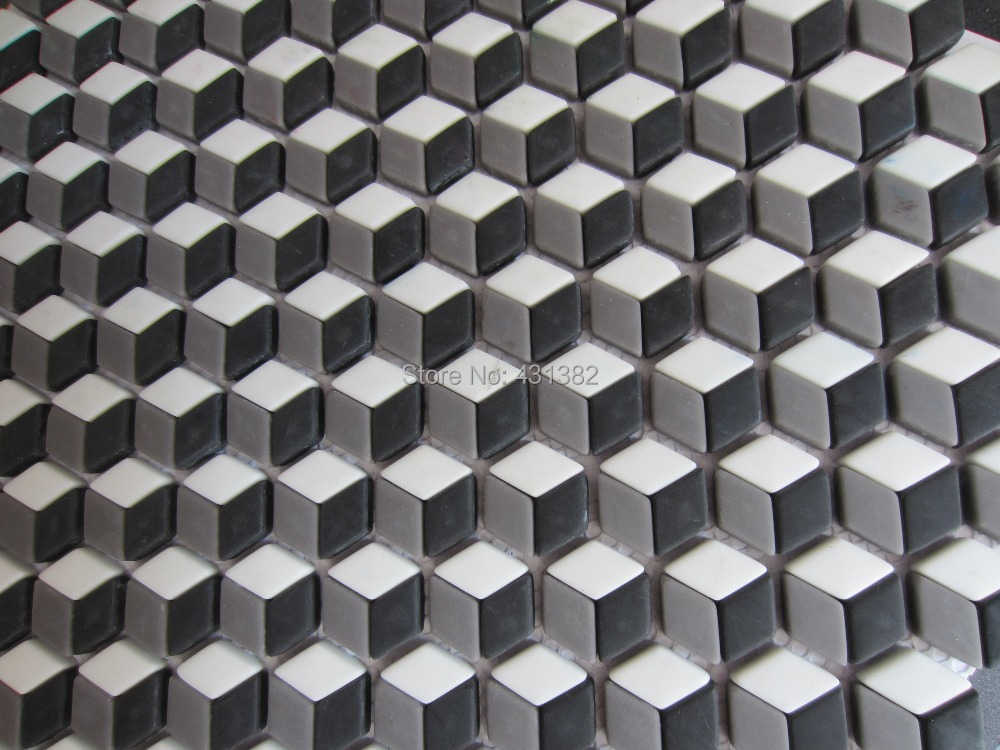 Full body design crystal mosaic tilesdiamond shape bathroom and