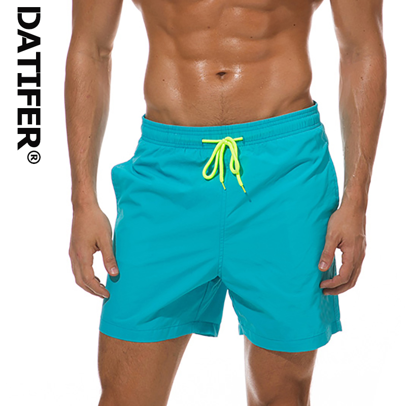 2019 Datifer Brand Men   Board     Shorts   Surfing   Shorts   Swimming Trunks Quick Dry Running Swimsuit Plus Size Bermudas bain ES5A