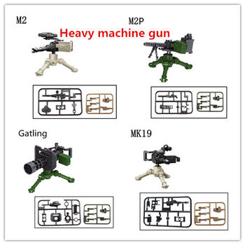 цена на Military building blocks War games heavy machine gun weapon accessories blocks compatible with Legoe for gift