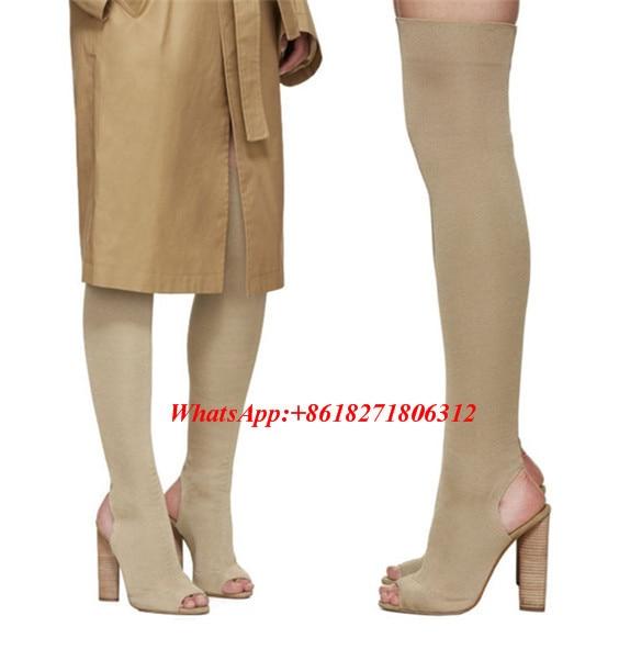 Nueva Kim Kardashian Sexy Peep Toe Tacones Altos Zapatos de Mujer ...