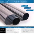 Double Silver One Way Mirror Reflective Solar Window Film 15*1.52 meter roll