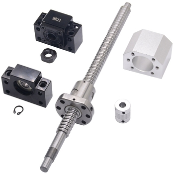 Sfu1605 Set Sfu1605 Rolled Ball Screw C7 With End Machined(400Mm) + 1605 Ball Nut + Nut Housing+Bk/Bf12 End Support + Coupler