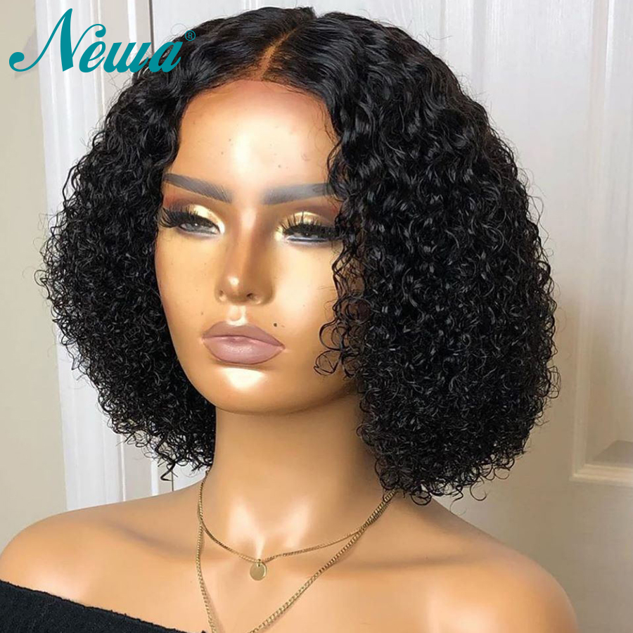 Newa Hair Short Full Lace Human Hair Wigs With Baby Hair Pre Plucked Curly Full Lace