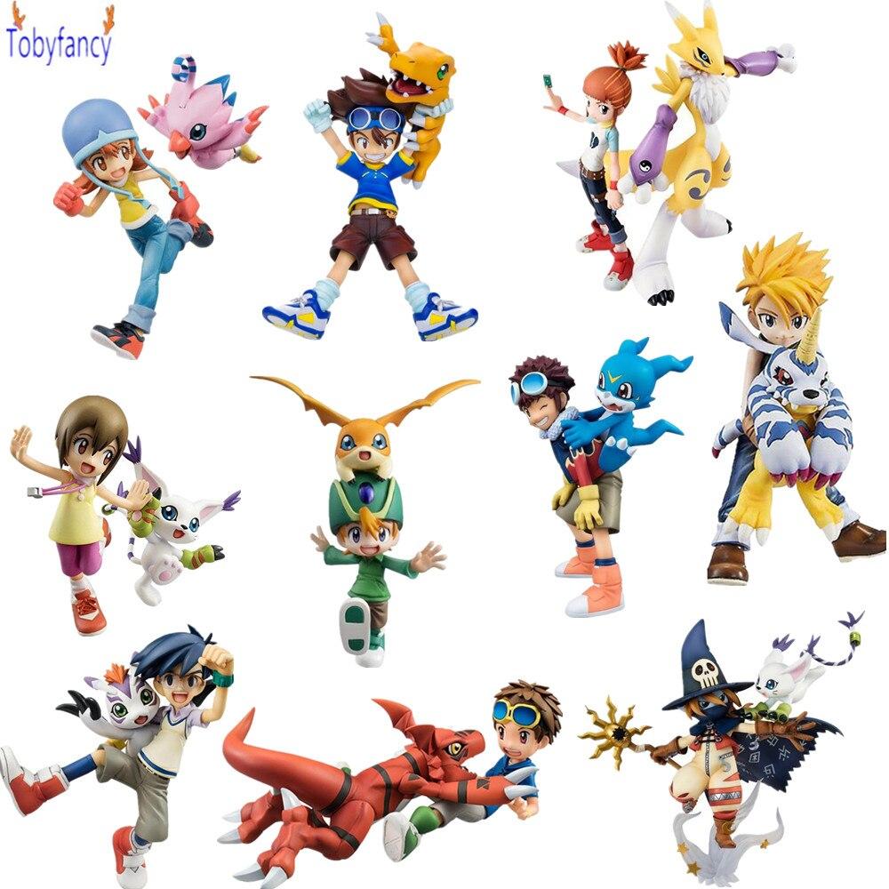 Аниме Digimon wizarmon gabumon Agumon Игрушечные лошадки PVC Фигурки 110 мм-135 мм Digimon Приключения модель игрушки куклы