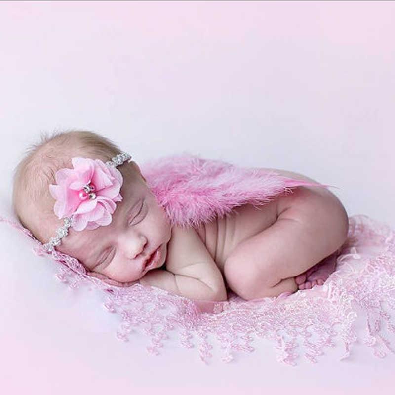 Accesorios para fotografía de recién nacido disfraz alas de Ángel lindas + Accesorios para fotos de diadema bebé niñas Niños Accesorios