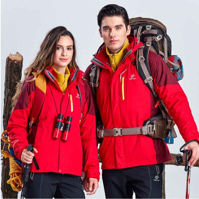 autumn and winter style jacket outdoor waterproof warm water sports couple 3in1 Jackets free shipping new hot sale winter lover couple outdoor sport 3in1 twinset water windproof skiing mountaineering jackets 160d321d