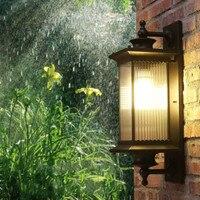 Крыльцо светодио дный открытый настенный светильник бра светодио дный Кофе цвет наружного освещения двор отель дверь лампы сад Водонепрон