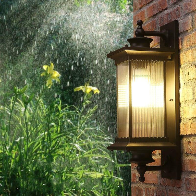Крыльцо светодиодный наружный настенный светильник бра Led кофейного цвета наружное освещение для двора отель дверь лампа сад водонепроницаемое настенное крепление