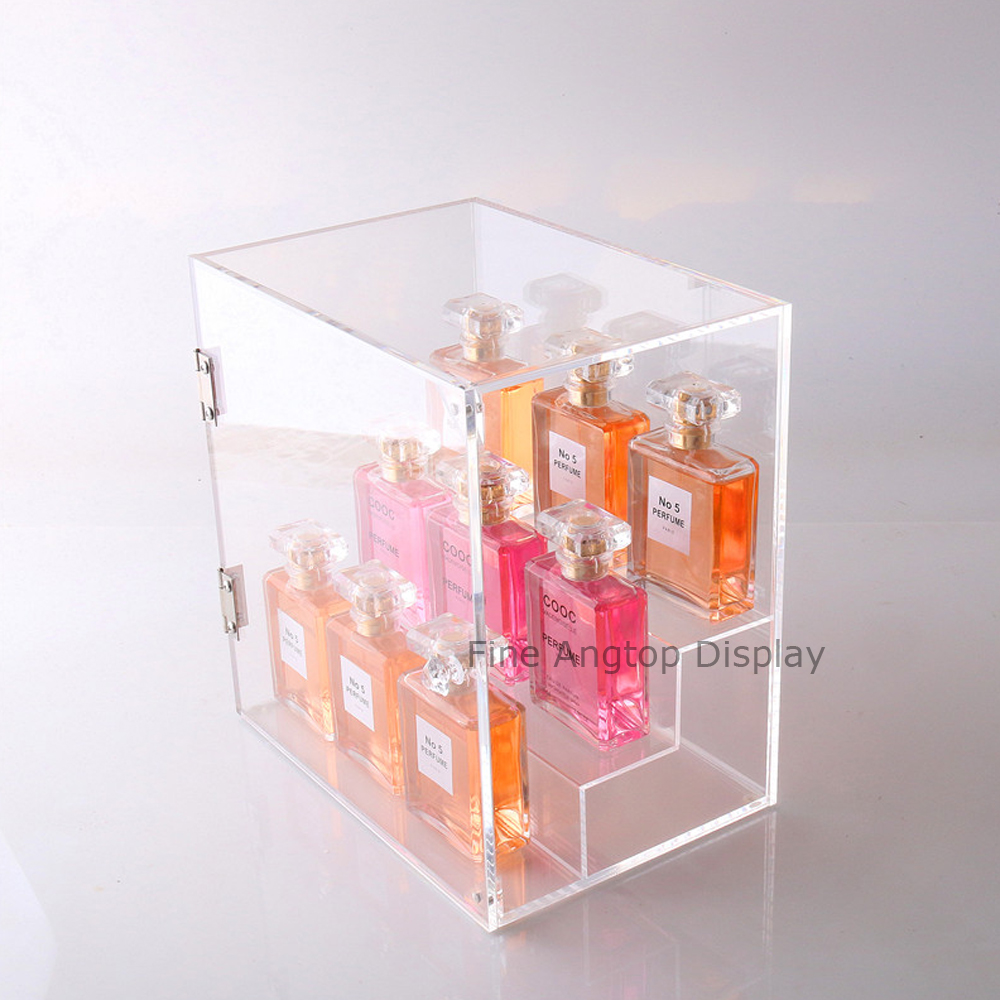 Round acrylic display risers circular stand rack for nail