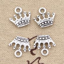 30pcs Charms crown 13x14mm Antique Silver Bronze Plated Pendants Making DIY Handmade Tibetan Silver Bronze Jewelry