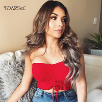 Summer Women Sexy Slim Strapless Tube Tops Solid Lace Up Tassel Red Crop Top 2018 Fashion Ruched Bandeau Intimates Night Club