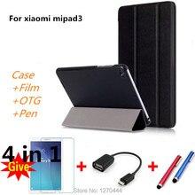 Caso de la cubierta para 2017 Xiaomi Mi Pad 3 Tableta MiPad 3 Cuero de LA PU caso para Xiaomi MiPad 2 Mi Pad 2 Funda 7.9 pulgadas de la tableta Del Tirón casos