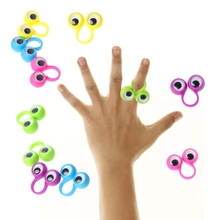 Rings Toys Kids Plastic with Eyes Wiggle Toy-Favors for Gift Assorted-Colors Fill Pinata