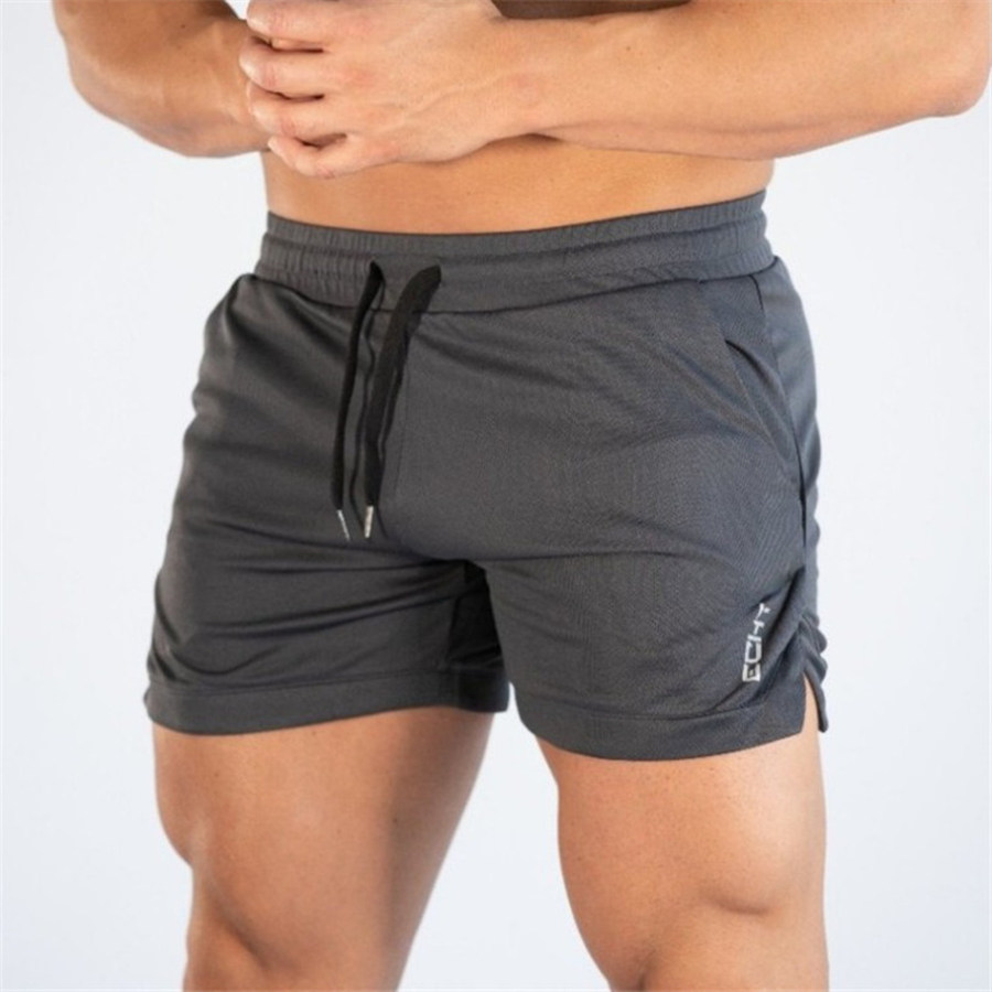 Men Bodybuilding Brand Shorts Joggers Gyms Fitness Crossfit Workout Sportswear Bottoms Male Casual Quick Dry Beach Short Pants