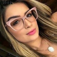 HBK Unisex Plain Series Computer Glasses Myopia Optional Retro Eyewear Cat Eye