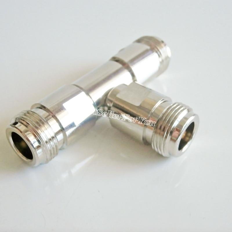 1Pcs N Tee type adapter N female to dual N female 3 way connector RF long version adapter|adapter connector|l connector|adapter female - title=