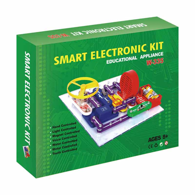 DIY circuit electronic building blocks splicing joint science and education and beneficial intelligence experimental toys clock table model teacher demonstration with primary school mathematics science and education equipment three needle linkage