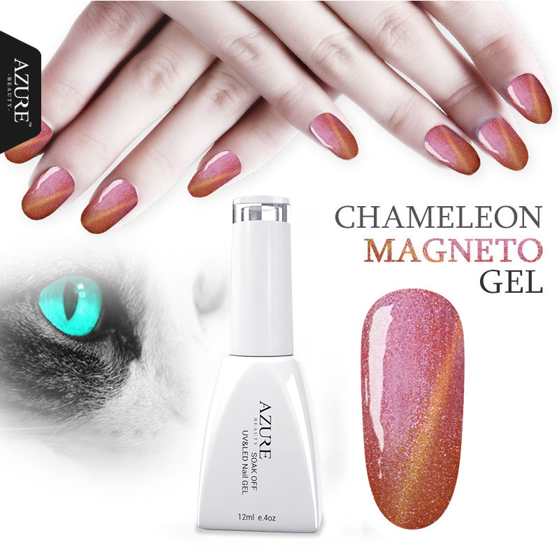 Azure Beauty 12ml Newest 12 Color Nail Gel Chameleon Gel High Quality Gel magnetic Varnish New Style UV Gel Nail Polish