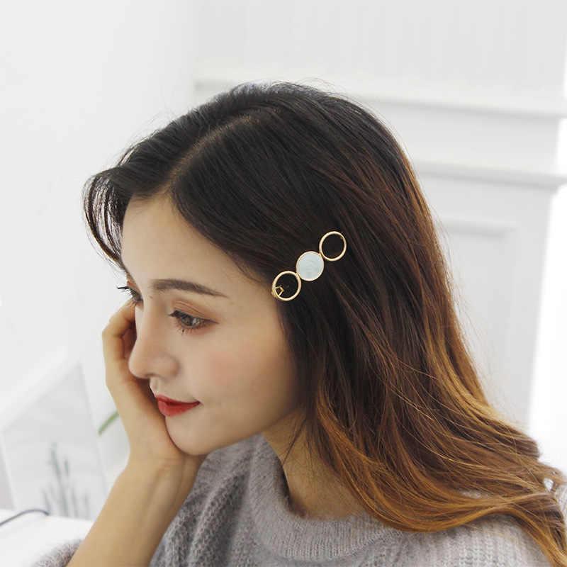 2019 Fashion Women Acetate Round Star Alloy Hair Clip Headwear Hair Ornament Headband Hairpin Barrette Fashion Hair Accessories