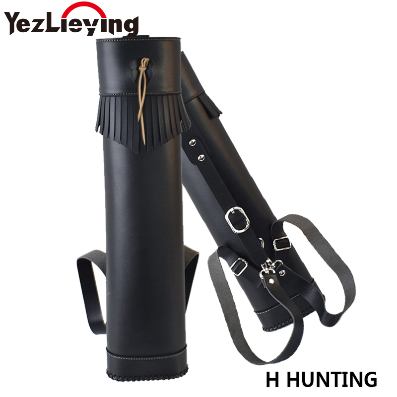 Deluxe PU Leather Traditional Archery Hunting Arrow Quiver Holder Belt Bag