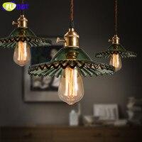 Vintage Glass Shade Lamp Pendant Lamp Decoration Home Lighting Fixture Retro Industrial LOFT Pendant Lights 110V 220V Edison Bul