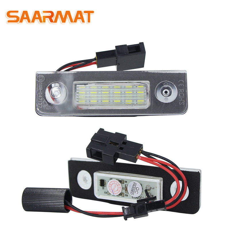 For VW Volkswagen Skoda Octavia ll Facelift 2009~2012 LED CANBUS No error Car Number License Plate Lamp Light lamps White @12V 2x canbus no error led number plate license light for chevrolet cruze camaro car styling auto accessory
